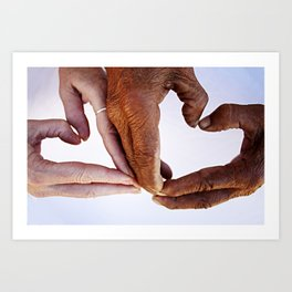 Corazónes Art Print