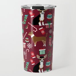 Chihuahua christmas presents dog breed stockings candy canes mittens Travel Mug