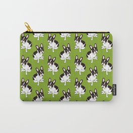 Cute double hooded pied French Bulldog wants your attention Carry-All Pouch