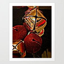 Christmas Jingle Bells Art Print