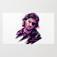 kurt rahn Area & Throw Rugs featuring KURT RUSSELL BAD ACTORS by mergedvisible