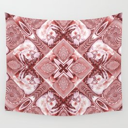 Pink Squares and Twisters Wall Tapestry