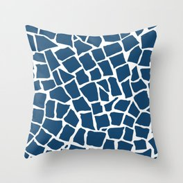 Mosaic Zoom Navy Throw Pillow