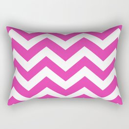 Frostbite - fuchsia color - Zigzag Chevron Pattern Rectangular Pillow