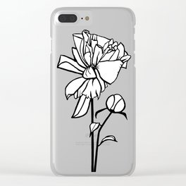 Peony Stem Clear iPhone Case