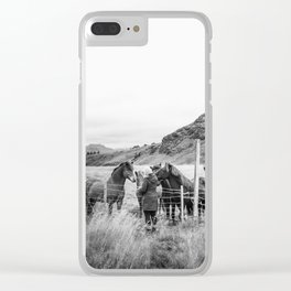 Icelandic Horses Clear iPhone Case