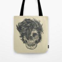 dead Tote Bags featuring Dead Duran by Rachel Caldwell