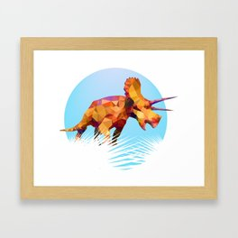 Party Triceratops Framed Art Print