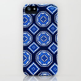 Patterned Up in Blue iPhone Case