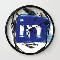 instagram Wall Clocks featuring O'Prime instagram by O'Prime