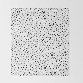 Polka Dots | Black and white pattern Throw Blanket