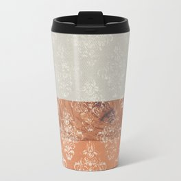 Layers Damask Peach Travel Mug