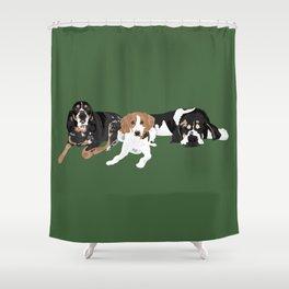 Three hounds Shower Curtain