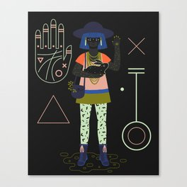 Witch Series: Palm Reader Canvas Print