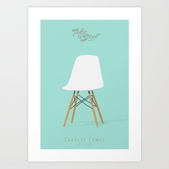 TAKE a SEAT - Eames / dsv Art Print