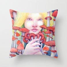Keeper of the Scarlet Garden Throw Pillow