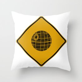 Death Star Crossing Throw Pillow