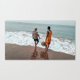 Fishermen at work Canvas Print