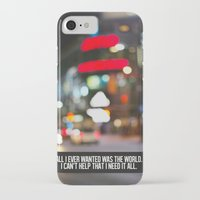 marina and the diamonds iPhone & iPod Cases featuring marina + the diamonds - world. by lissalaine