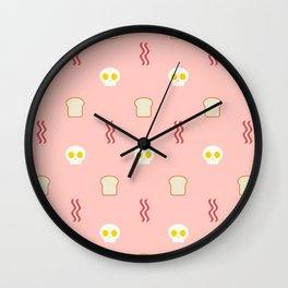 Skulls & Bacon - Pink Wall Clock