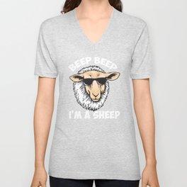 Beep Beep I'm A Sheep Unisex V-Neck