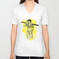 law V-neck T-shirts featuring Trafalgar Law by Sammerdoodle Designs