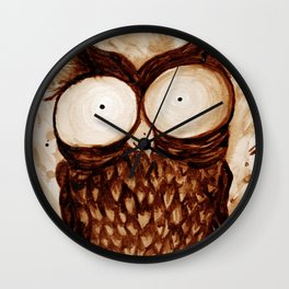 Owlatte' Wall Clock