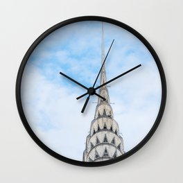 Iconic NYC Landmark Chrysler Building Architecture Wall Clock