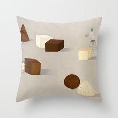 CHOCOLATE PHILOSOPHY Throw Pillow