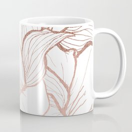 Modern handdrawn abstract faux rose gold flowers pattern Coffee Mug