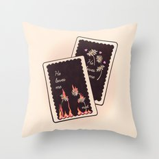 He Loves Me... Throw Pillow