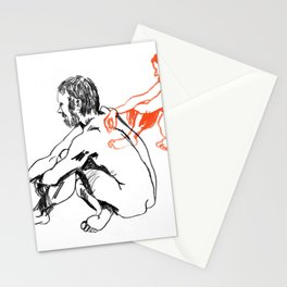 Duality of Man Stationery Cards