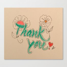 calligraphy, caligraphy, thank you, wall art, thank you card, home decoration, Yokohama, Canvas Print