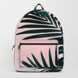 Modern tropical palm tree photography pastel pink ombre gradient Backpack