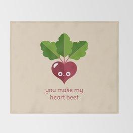 You Make My Heart Beet Throw Blanket