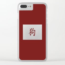Chinese zodiac sign Dog red Clear iPhone Case