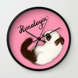 Himalayin' (Pink) Wall Clock
