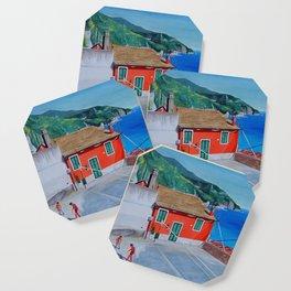 Italian village basketball Coaster