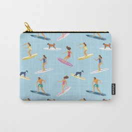 surfers watercolor pattern Carry-All Pouch