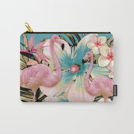 Vintage Flamingo Aloha Carry-All Pouch