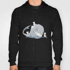 penguins and a whale Hoody