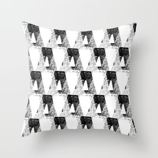 black & white / modern repeat Throw Pillow