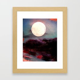 Tonight, I Am Dreaming That We Can Sleep Under The Same Moon. Framed Art Print