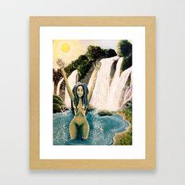 Waterfall Nymph Framed Art Print