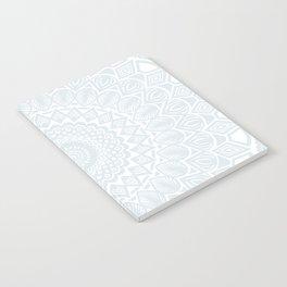 Minimal Minimalistic Light Cool Gray Mandala Notebook