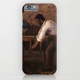 Gustave Courbet - The Knife-Grinders iPhone Case