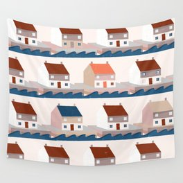 A house by the sea Wall Tapestry
