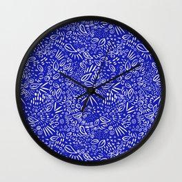 Midnight Floral Wall Clock