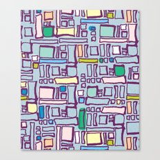 Pastel Block Canvas Print