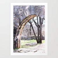 Stone Passageway Art Print